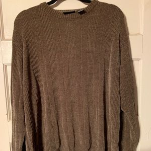 Brown chenille like sweater